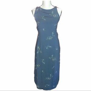 🌻3/$20 GAP grey/blue flower print dress